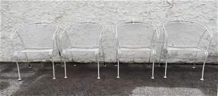 Set 4 Salterini Style Chairs. Outdoor Patio.