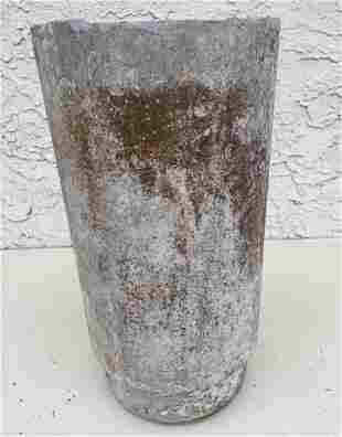 WILLY GUHL Tall Planter. Tapered form.