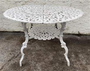 Fancy Cast Aluminum Patio Porch Table. Round bolted top