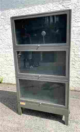 3 Part Metal Stacking Bookcase. JEBCO label.