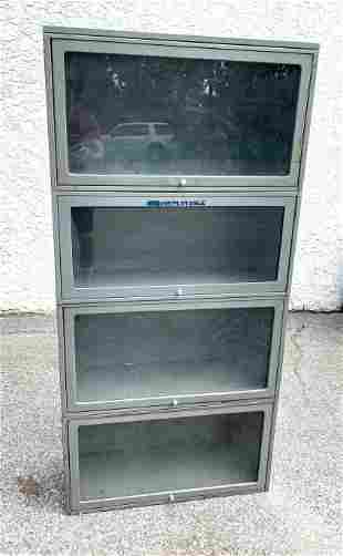4 Part Metal Stacking Bookcase. JEBCO label.