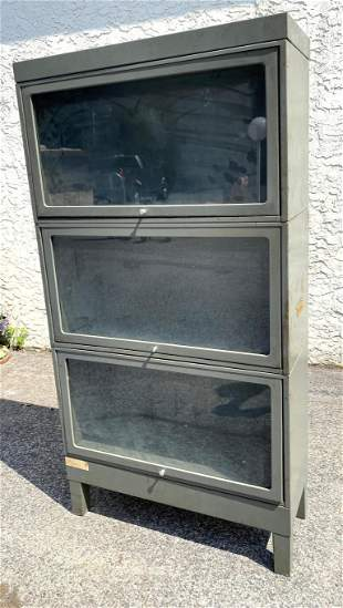 3 Part Metal Stacking Bookcase. One larger section. JEB