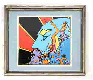 PETER MAX 72 Signed Lithograph Print. Letter numbered.