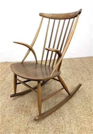 N. NEILERSEN GRUNDLAGT Rocking Chair Rocker. Curved for