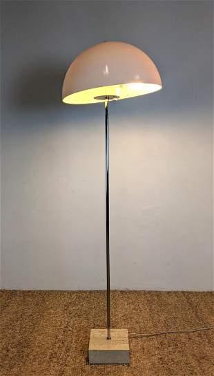 Sonneman Style Floor Lamp. Travertine base and Plastic