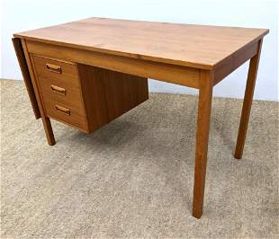 Danish Modern Teak Writing Desk with Drop Side. Drop me