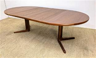 A/S SKOVBY Danish Teak Pedestal Base Dining Table. Roun