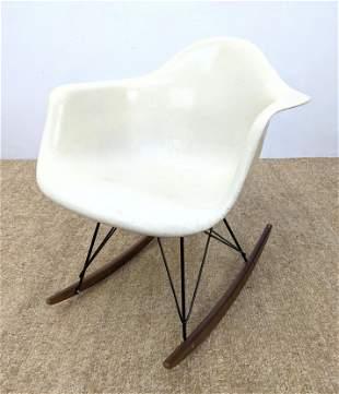 HERMAN MILLER Fiberglass Shell EAMES Rocking Chair. W