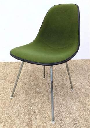 Herman Miller Green Upholstered Side Chair.