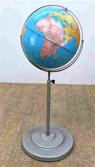 Modern School Globe on Metal Stand.
