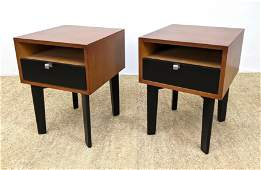 Pair GEORGE NELSON HERMAN MILLER Side End Tables. Nat