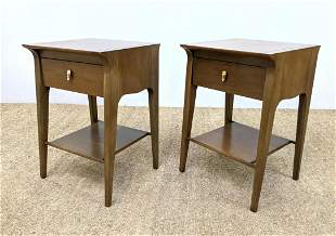 """Pr DREXEL """"Profile"""" Single Drawer Night Stands. Tables"""