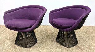 Pr WARREN PLATNER Lounge Chairs. Purplicious upholstery