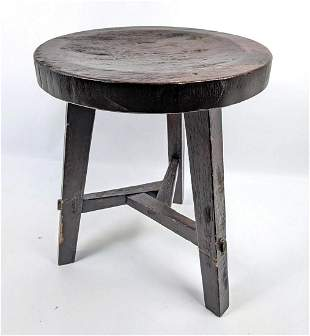Rustic Arts and Crafts Style 3 Leg Stool.