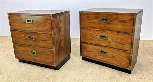 Pr LANE Campaign style Bachelor's Chests. Metal pulls a