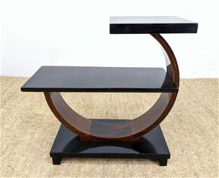 Vintage Art Deco Side Table. 2 tier with circle base.