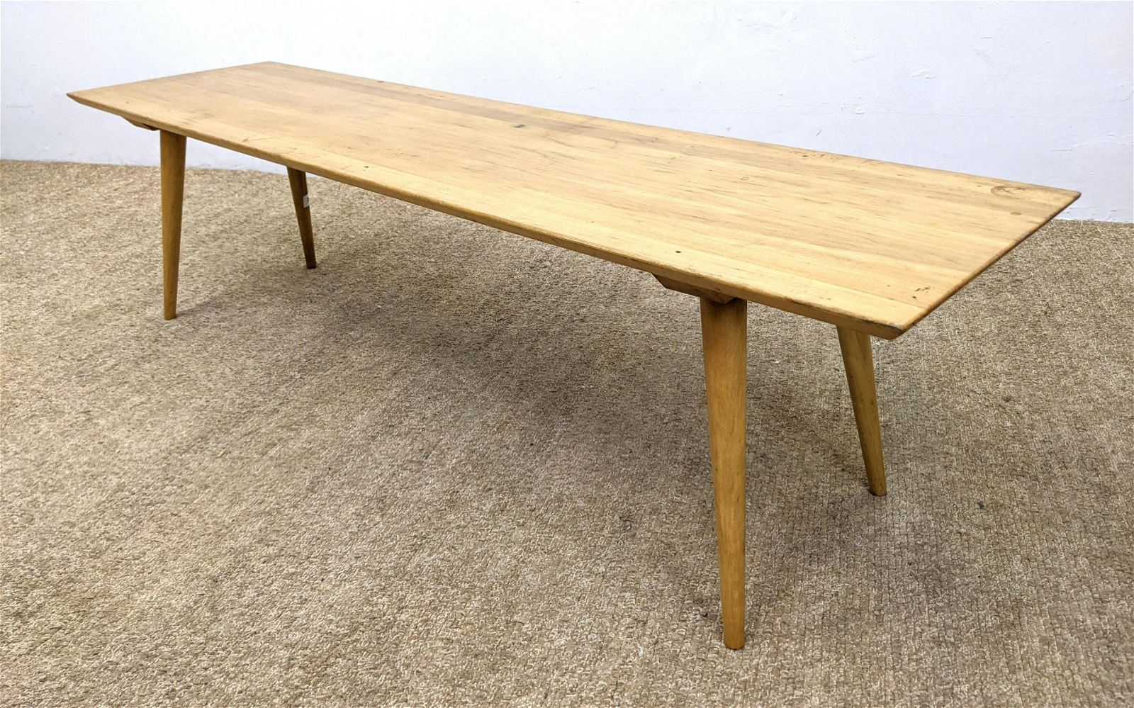 PAUL McCOBB Coffee Table Bench. Blond Wood Coffee Table