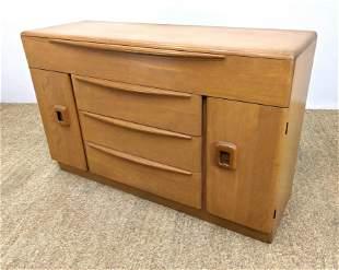 HEYWOOD WAKEFIELD Maple Credenza Sideboard Cabinet. Ch
