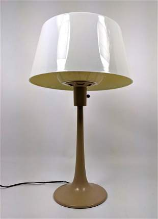 LIGHTOLIER Table Lamp. Modernist Tulip form base with r