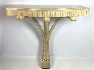 SERGE ROCHE Style Bracket Wall Mount Console Table. Lac