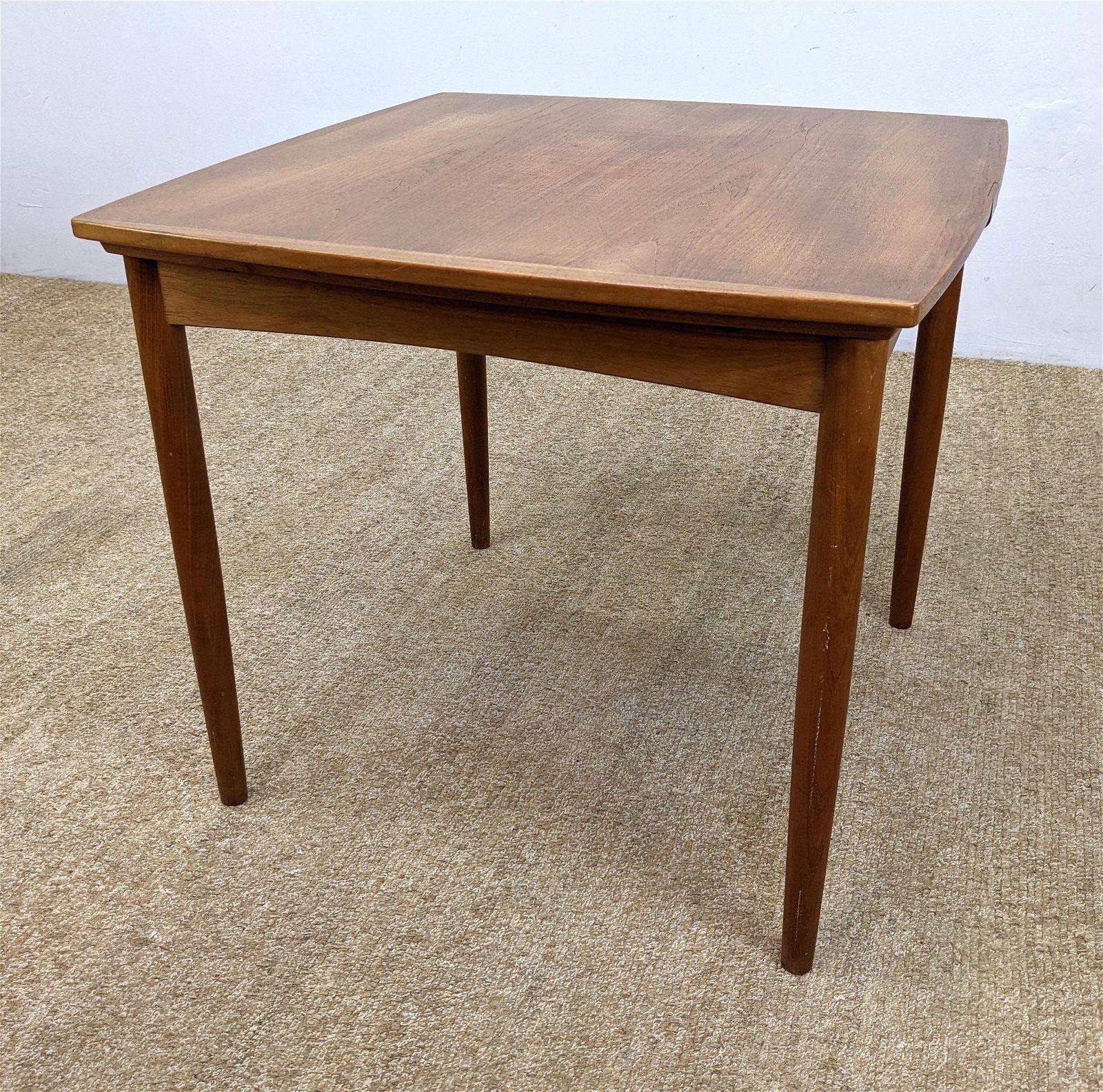 Danish Modern Teak Refractory Dining Table. Game Table.
