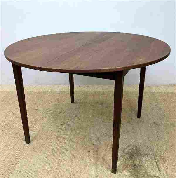 Mid Century Modern Round dining Table with 1 Leaf 15.5