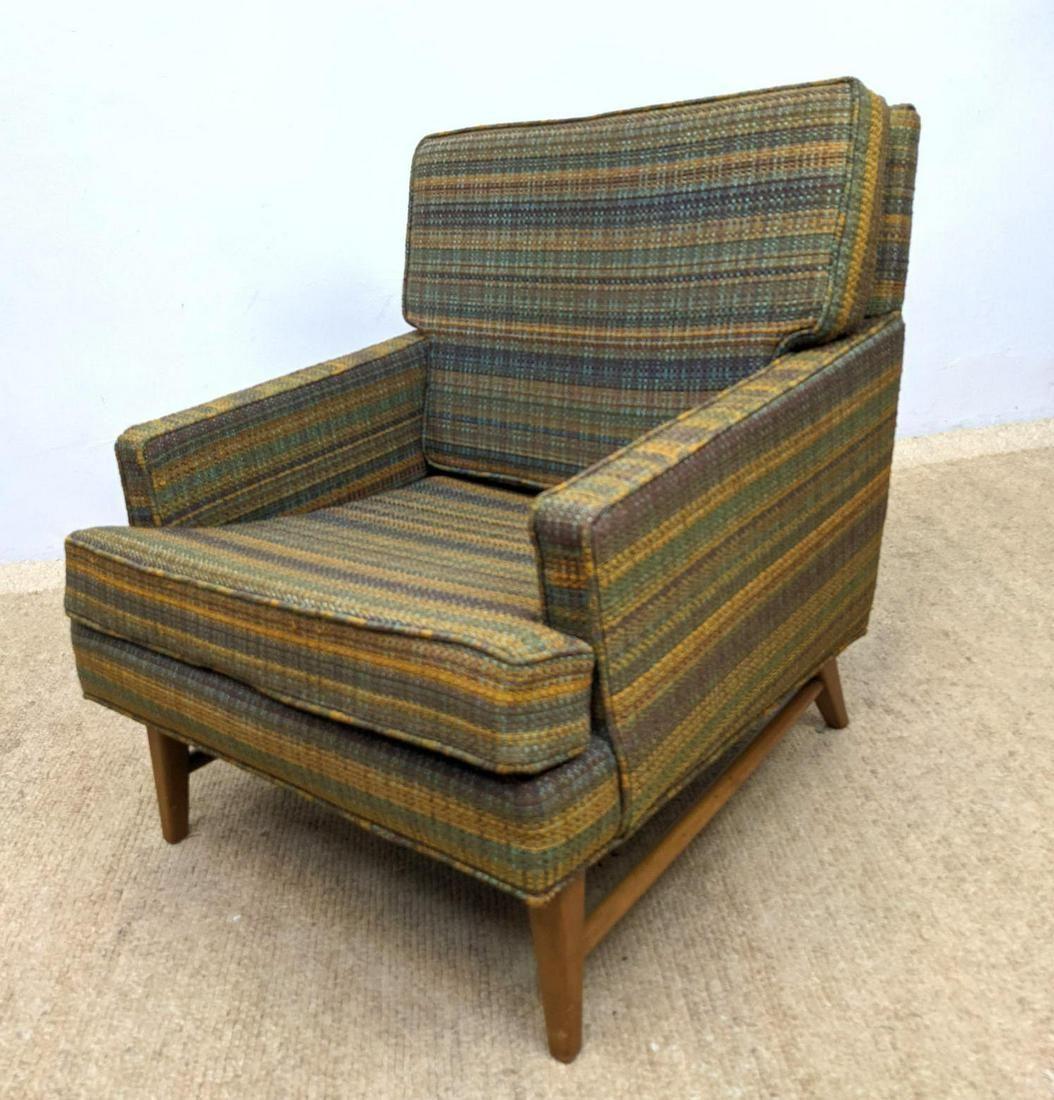 Paul McCobb Style Lounge Chair. Stretcher base.