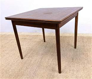AM Denmark Teak Refractory Dining Table. Square Banded