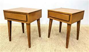 Pr CONANT BALL Night Stands Tables. Modern tapered squa