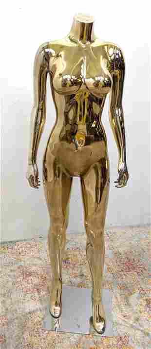 Gold Tone Mannequin. Female