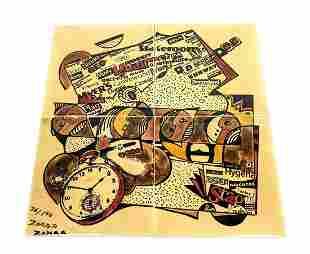 4pc ZOHAR 26/500 Printed Tile Plaque Pieces.