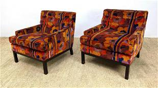 Pair of Dunbar Style Lounge Chairs in Colorful JACK LEN