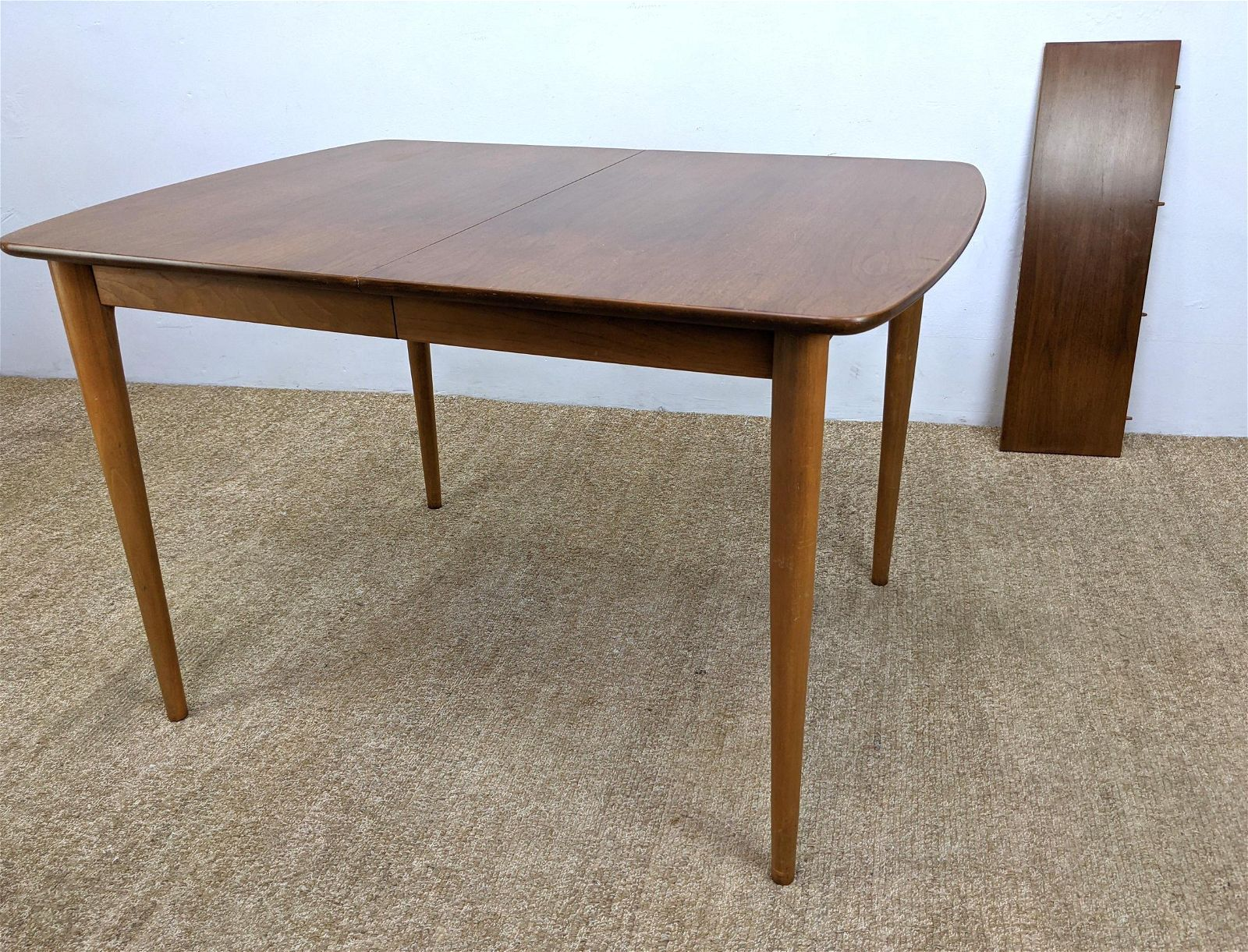 """American Modern Dining table with Tapered Legs. One 10"""""""