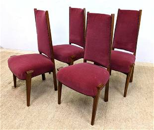 Set 4 FRENCH ART DECO CHAIRS BY P. COSP with Extended F