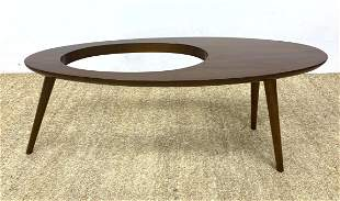 Contemporary Gio Ponti style Coffee Table. Designed wit
