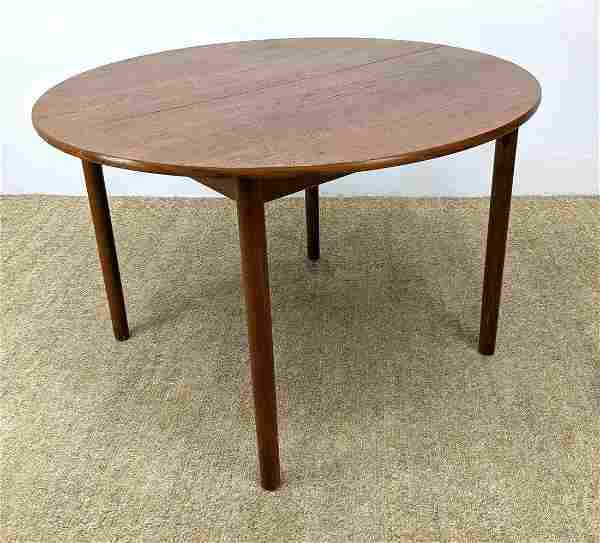 Danish Modern Teak Round Dining Table.