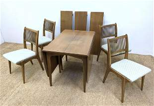 """DREXEL Profile Table and Chairs. Dining Set. Two 22"""" dr"""