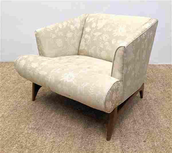 Gio Ponti Style Lounge Chair. Novel construction. Wood