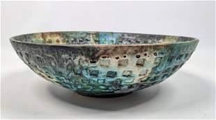 ALVINO BAGNI Sea Garden Italian Art Pottery Bowl.