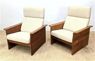 Pr TARM STOLE Danish Modern Teak Lounge Chairs. Flared