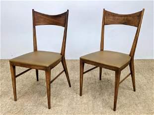 Pr PAUL McCOBB American Modern Dining Chairs. Bow Tie B