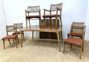 DREXEL Profile Dining Set. Table and 6 Chairs. Three L