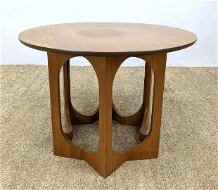 Harvey Probber style Small Round Side table. Star form