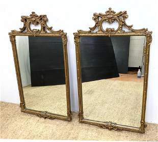Pair French Style Wall Mirrors. Not wood.