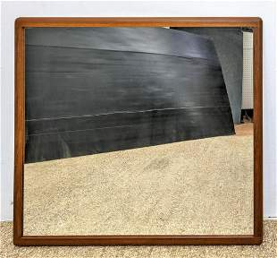 Danish Modern Teak Framed Wall Mirror.