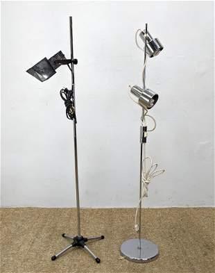 Pair Mid Century Modern Floor Lamps.