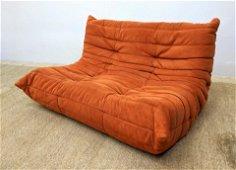 LIGNE ROSET TOGO Love Seat Sofa. French Upholstered Lov