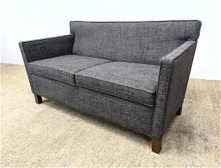 MIES VAN DE ROHE for KNOLL Sofa. Love Seat. Nubby Gray