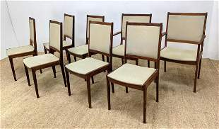 Set 8 Danish Modern Rosewood Dining Chairs. Two Arms. S