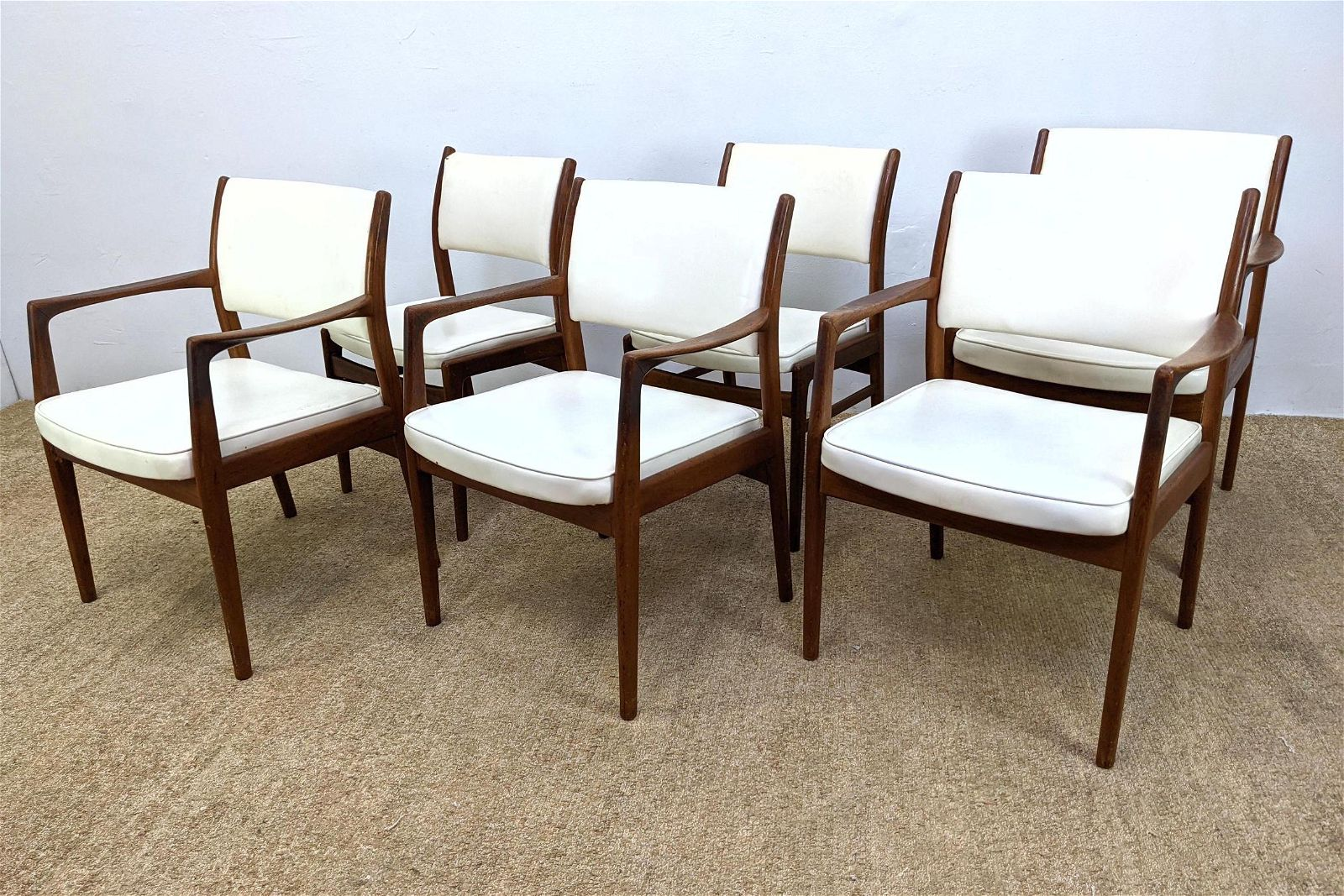 Set 6 Dining Chairs. Modernist Frames. Four Arm and Tw